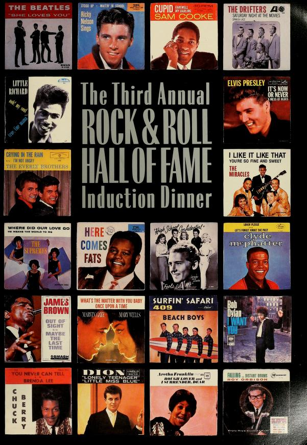 The third annual Rock & Roll Hall of Fame induction dinner by Rock and Roll Hall of Fame Foundation